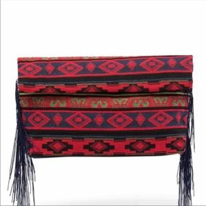 Handbags - Aztec clutch in red